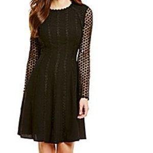 Antonio Melani Effie Crepe Crochet Lace Dress
